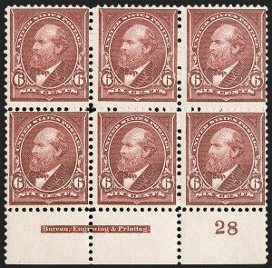 Sale Number 1187, Lot Number 389, 1894-98 Bureau Issues (Scott 246-284)6c Dull Brown (256), 6c Dull Brown (256)