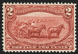 Sale Number 1187, Lot Number 421, 1898 Trans-Mississippi Issue (Scott 285-293)2c Trans-Mississippi (286), 2c Trans-Mississippi (286)