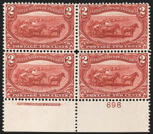 Sale Number 1187, Lot Number 422, 1898 Trans-Mississippi Issue (Scott 285-293)2c Trans-Mississippi (286), 2c Trans-Mississippi (286)