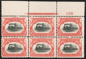 Sale Number 1187, Lot Number 439, 1901 Pan-American Issue (Scott 294-299)2c Pan-American (295), 2c Pan-American (295)