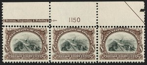 Sale Number 1187, Lot Number 444, 1901 Pan-American Issue (Scott 294-299)8c Pan-American (298), 8c Pan-American (298)