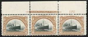 Sale Number 1187, Lot Number 445, 1901 Pan-American Issue (Scott 294-299)10c Pan-American (299), 10c Pan-American (299)