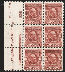 Sale Number 1187, Lot Number 454, 1902-08 Issues (Scott 300-320)6c Claret (305), 6c Claret (305)