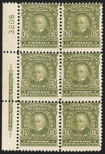 Sale Number 1187, Lot Number 455, 1902-08 Issues (Scott 300-320)15c Olive Green (309), 15c Olive Green (309)