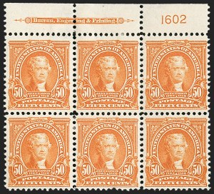 Sale Number 1187, Lot Number 456, 1902-08 Issues (Scott 300-320)50c Orange (310), 50c Orange (310)