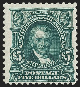 Sale Number 1187, Lot Number 457, 1902-08 Issues (Scott 300-320)50c-$5.00 1902 Issue (310-313), 50c-$5.00 1902 Issue (310-313)