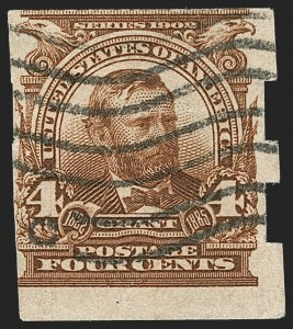 Sale Number 1187, Lot Number 461, 1902-08 Issues (Scott 300-320)4c Brown, Imperforate, Schermack Ty. III (314A), 4c Brown, Imperforate, Schermack Ty. III (314A)