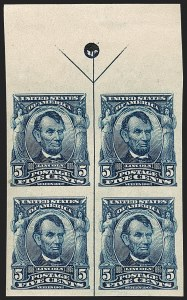 Sale Number 1187, Lot Number 463, 1902-08 Issues (Scott 300-320)5c Blue, Imperforate (315), 5c Blue, Imperforate (315)