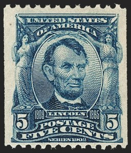 Sale Number 1187, Lot Number 466, 1902-08 Issues (Scott 300-320)5c Blue, Coil (317), 5c Blue, Coil (317)