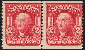 Sale Number 1187, Lot Number 472, 1902-08 Issues (Scott 300-320)2c Carmine, Coil (322), 2c Carmine, Coil (322)