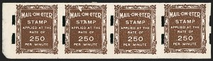 Sale Number 1187, Lot Number 500, Private Vending and Affixing Machine Perforations Schermack Ty. III, Brown Test Stamp (TD14), Schermack Ty. III, Brown Test Stamp (TD14)