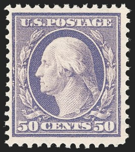 Sale Number 1187, Lot Number 515, 1908-10 Washington-Franklin Issues (Scott 331-356)50c Violet (341), 50c Violet (341)