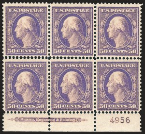 Sale Number 1187, Lot Number 516, 1908-10 Washington-Franklin Issues (Scott 331-356)50c Violet (341), 50c Violet (341)