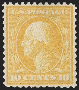 Sale Number 1187, Lot Number 533, 1909 Bluish Paper Issue (Scott 357-366)10c Yellow, Bluish (364), 10c Yellow, Bluish (364)
