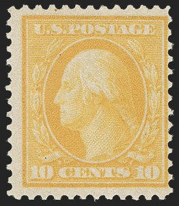 Sale Number 1187, Lot Number 534, 1909 Bluish Paper Issue (Scott 357-366)10c Yellow, Bluish (364), 10c Yellow, Bluish (364)