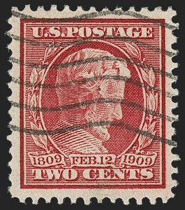 Sale Number 1187, Lot Number 540, 1909 Commemorative Issues (Scott 367-373)2c Lincoln, Bluish (369), 2c Lincoln, Bluish (369)