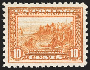 Sale Number 1187, Lot Number 566, 1913-15 Panama-Pacific Issue (Scott 397-404)10c Panama-Pacific, Perf 10 (404), 10c Panama-Pacific, Perf 10 (404)