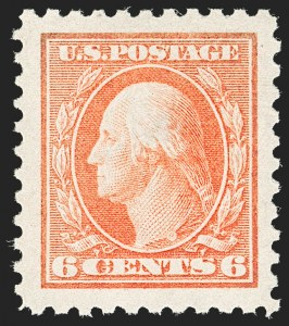 Sale Number 1187, Lot Number 582, 1913-15 Washington-Franklin Issues (Scott 424-461)6c Red Orange (429), 6c Red Orange (429)