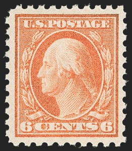 Sale Number 1187, Lot Number 583, 1913-15 Washington-Franklin Issues (Scott 424-461)6c Red Orange (429), 6c Red Orange (429)