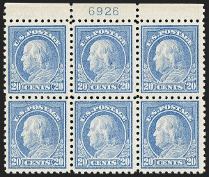 Sale Number 1187, Lot Number 587, 1913-15 Washington-Franklin Issues (Scott 424-461)20c Ultramarine (438), 20c Ultramarine (438)