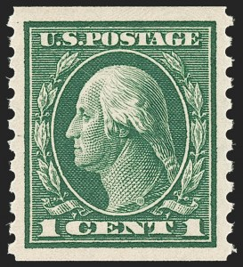 Sale Number 1187, Lot Number 589, 1913-15 Washington-Franklin Issues (Scott 424-461)1c Green, Coil (443), 1c Green, Coil (443)