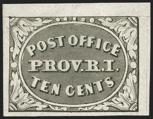 Sale Number 1187, Lot Number 6, Postmasters' ProvisionalsProvidence, Rhode Island, 5c, 10c Gray Black (10X1, 10X2), Providence, Rhode Island, 5c, 10c Gray Black (10X1, 10X2)