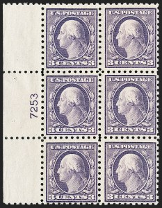 Sale Number 1187, Lot Number 600, 1916-17 Issues (Scott 462-480)3c Violet (464), 3c Violet (464)