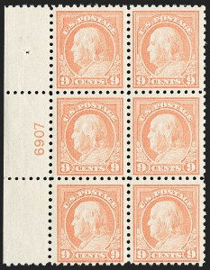 Sale Number 1187, Lot Number 605, 1916-17 Issues (Scott 462-480)9c Salmon Red (471), 9c Salmon Red (471)