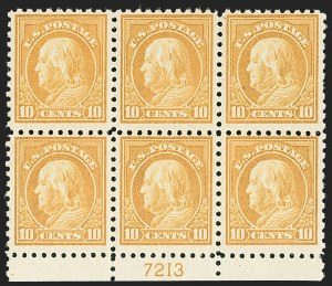 Sale Number 1187, Lot Number 606, 1916-17 Issues (Scott 462-480)10c Orange Yellow (472), 10c Orange Yellow (472)