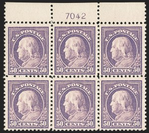Sale Number 1187, Lot Number 635, 1917-19 Issues (Scott 481-524)50c Red Violet (517), 50c Red Violet (517)