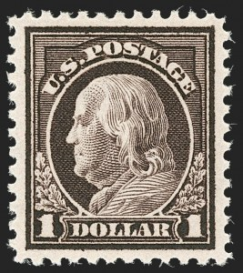 Sale Number 1187, Lot Number 636, 1917-19 Issues (Scott 481-524)$1.00 Violet Brown (518), $1.00 Violet Brown (518)
