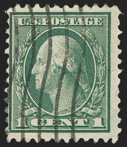 Sale Number 1187, Lot Number 653, 1919-20 Issues (Scott 537-550)1c Green, Rotary Perf 11 (544), 1c Green, Rotary Perf 11 (544)