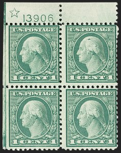 Sale Number 1187, Lot Number 654, 1919-20 Issues (Scott 537-550)1c Green, 2c Carmine Rose (545-546), 1c Green, 2c Carmine Rose (545-546)