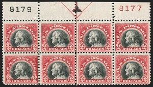 Sale Number 1187, Lot Number 656, 1919-20 Issues (Scott 537-550)$2.00 Carmine & Black (547), $2.00 Carmine & Black (547)