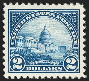 Sale Number 1187, Lot Number 658, 1922-29 and Later Issues (Scott 551-forward)$2.00 Deep Blue (572), $2.00 Deep Blue (572)