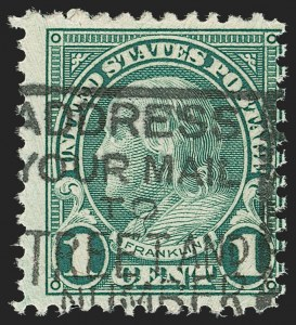 Sale Number 1187, Lot Number 667, 1922-29 and Later Issues (Scott 551-forward)1c Green, Rotary, Perf 11 (594), 1c Green, Rotary, Perf 11 (594)