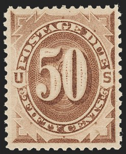 Sale Number 1187, Lot Number 708, Postage Due, Offices in China50c Brown (J7), 50c Brown (J7)