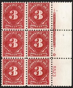 Sale Number 1187, Lot Number 717, Postage Due, Offices in China3c Carmine Lake (J54), 3c Carmine Lake (J54)