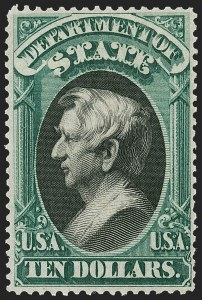 Sale Number 1187, Lot Number 726, Officials$10.00 State (O70), $10.00 State (O70)