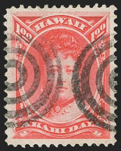 Sale Number 1187, Lot Number 845, U.S. PossessionsHAWAII, 1883, $1.00 Rose Red (49), HAWAII, 1883, $1.00 Rose Red (49)