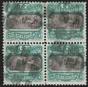 Sale Number 1188, Lot Number 89, 1869 Pictorial Issue, including the Unique Block of the 24c Invert,