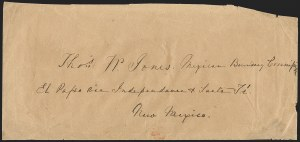 Sale Number 1189, Lot Number 1009, U.S. Military Occupation1851 April 10--Fort Snelling, Minnesota, to El Paso via Independence and Santa Fe, 1851 April 10--Fort Snelling, Minnesota, to El Paso via Independence and Santa Fe