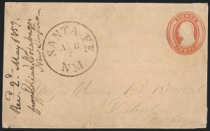 Sale Number 1189, Lot Number 1017, Early Mail and Expresses1857 March--Calabasas (near Camp Moore) to Santa Fe by Military Express, Hall-Hockaday Contract Mail to Independence, Missouri, 1857 March--Calabasas (near Camp Moore) to Santa Fe by Military Express, Hall-Hockaday Contract Mail to Independence, Missouri