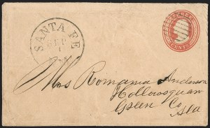 Sale Number 1189, Lot Number 1019, Early Mail and Expresses1857 August--Fort Buchanan, New Mexico Territory, to Santa Fe by Express, Hall-Hockaday Contract Mail to Independence, Missouri, 1857 August--Fort Buchanan, New Mexico Territory, to Santa Fe by Express, Hall-Hockaday Contract Mail to Independence, Missouri