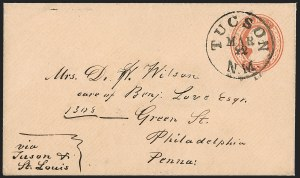 Sale Number 1189, Lot Number 1027, Early Mail and Expresses1859 March--Butterfield Overland Way Mail via Tucson, 1859 March--Butterfield Overland Way Mail via Tucson