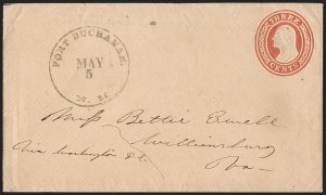 "Sale Number 1189, Lot Number 1030, Early Mail and Expresses""Fort Buchanan N.M. May 5"" (1860) Circular Datestamp--Military Express to Tubac, then by Lathrop's Buckboard Mail to Tucson, and from Tucson to St. Louis by Butterfield Overland Mail, ""Fort Buchanan N.M. May 5"" (1860) Circular Datestamp--Military Express to Tubac, then by Lathrop's Buckboard Mail to Tucson, and from Tucson to St. Louis by Butterfield Overland Mail"