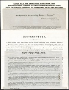 Sale Number 1189, Lot Number 1035, Early Mail and Expresses1851-59 Post Office Department Notices, 1851-59 Post Office Department Notices