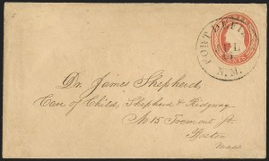 "Sale Number 1189, Lot Number 1044, Arizona Area of New Mexico Territory""Fort Defiance N.M. Jul. 16"" (1858) Circular Datestamp--Fort Defiance to Albuquerque by Military Express, then by Stage to Santa Fe, and by Hall-Porter Contract Mail to Independence, Missouri, ""Fort Defiance N.M. Jul. 16"" (1858) Circular Datestamp--Fort Defiance to Albuquerque by Military Express, then by Stage to Santa Fe, and by Hall-Porter Contract Mail to Independence, Missouri"