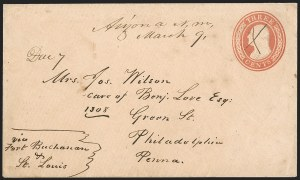 Sale Number 1189, Lot Number 1056, Arizona Area of New Mexico Territory,