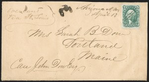 Sale Number 1189, Lot Number 1057, Arizona Area of New Mexico Territory10¢ Green, Ty. I (31), 10¢ Green, Ty. I (31)